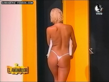 hot blonde model fitness butt in thong