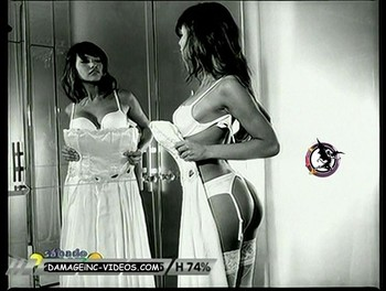 Argentina celebrity Pampita hot white lingerie