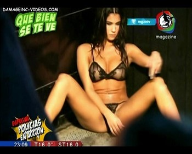 Delfina Gerez Bosco lingerie legs wide open