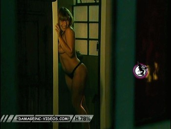 Argentina celebrity Monica Ayos topless in thong
